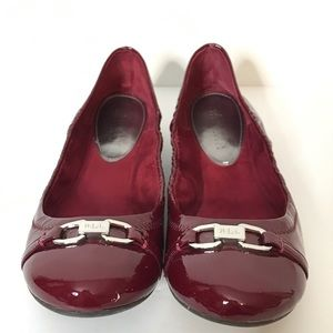 LRL Betsy Ballet Flats Size 10B Dark Berry